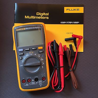 Fluke 17b Digital Multimeter Tester Dmm With Tl75 Test Leads Brand New