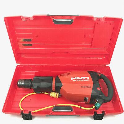 Hilti Te 1000-avr Electric 25lb Demolition Demo Hammer Drill Breaker W Case