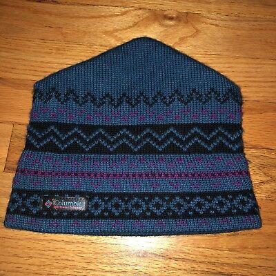 - Vintage Columbia Sportswear Wool Beanie Winter Hat