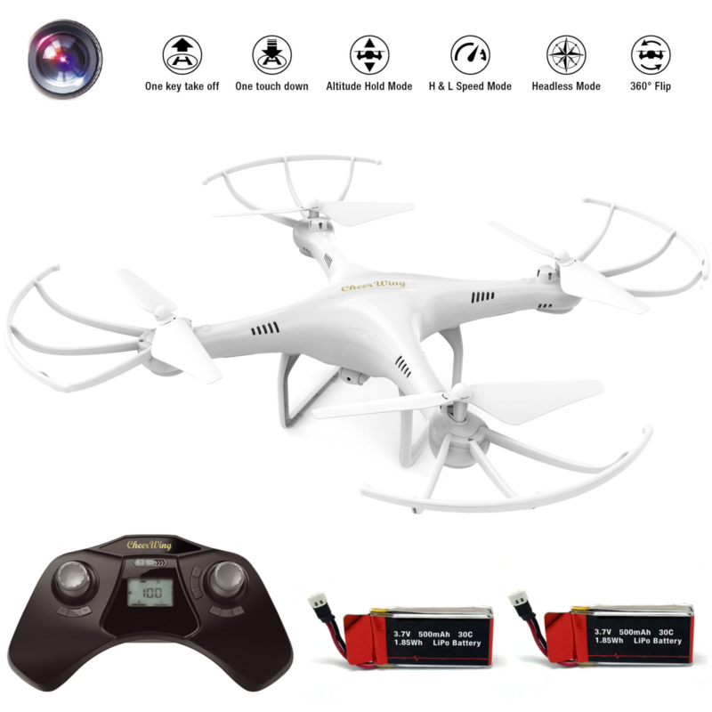 Cheerwing CW4 CW6 2.4G 6-Axis RC Quadcopter Drone with HD Camera extra battery