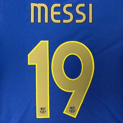 2006-07 Barcelona Home Name Set #19 MESSI Champions League Remake for Shirt...