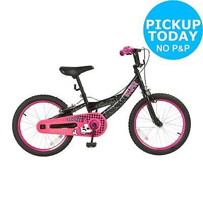 Eclipse 18 Inch Wheel 10 Inch Steel Frame Bike BMX Style Tyres Girls Pink/Black