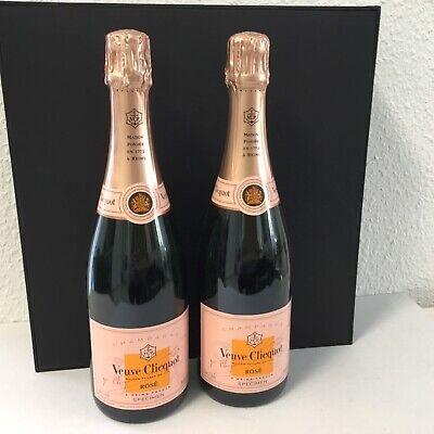 2 Champagner Flaschen Veuve Clicquot Rose 0,75 Liter leer Dekorationsflaschen