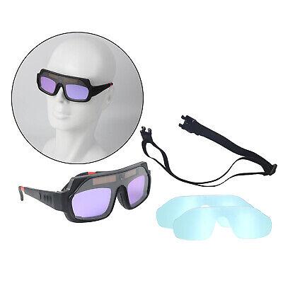 Solar Auto Darkening Welding Goggles Adjustable Glasses Anti Fog Work Safety