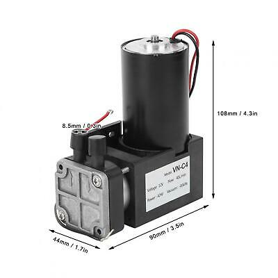 42w Dc 12v Mini Vacuum Pump Mute Brushless Mechanical Parts Vn-c4 40l Min New
