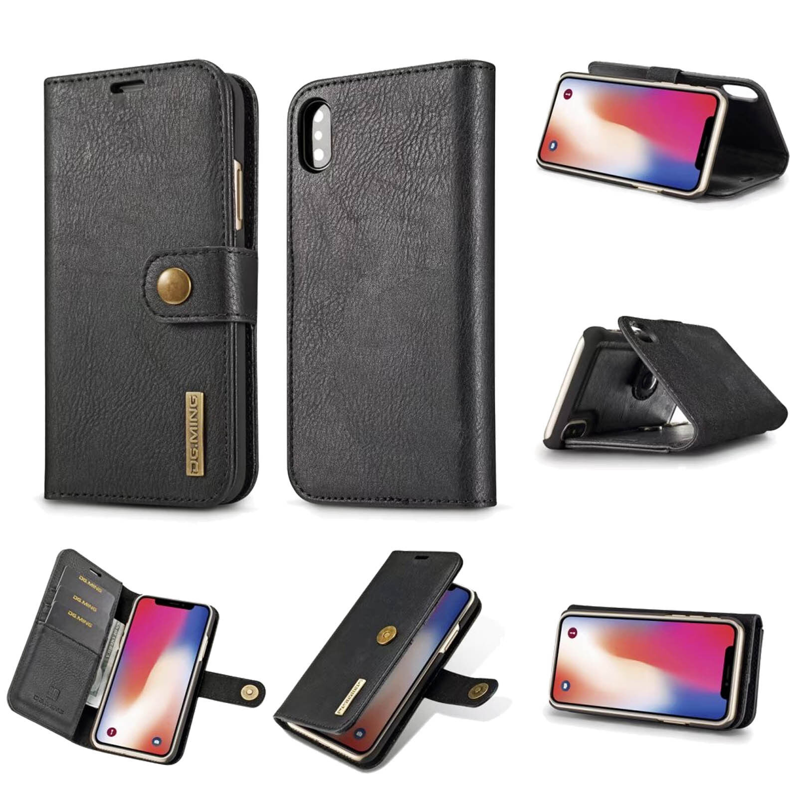 Leather Smart Phone Case Card Wallet for iPhone 6/7/8/8 Plus