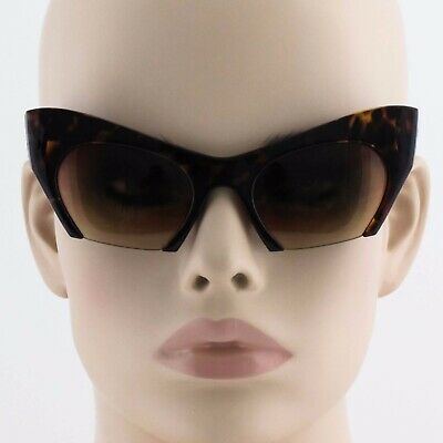Large Matte Big Cat Eye Rasoir Half Frame Cut Off Miu Sunglasses Razor (Half Frame Cat Eye Glasses)