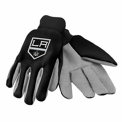 - Los Angeles Kings Gloves Sports Logo Utility Work Garden NEW Colored Palm