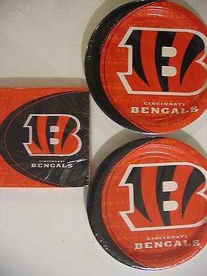 CINCINNATI BENGALS NFL FOOTBALL Party Supplies Includes Plates & Napkins NEW - Bengals Party Supplies
