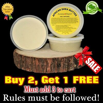 8oz Organic African Shea Butter Ivory Raw  From GHANA Natura