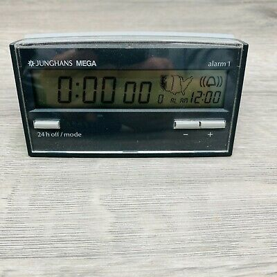 RADIO CONTROLLED ALARM CLOCK MADE IN GERMANY JUNGHANS MEGA ALARM 1 A2