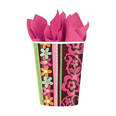 Hippie Chick Party Supplies 9oz paper Cups-8ct.