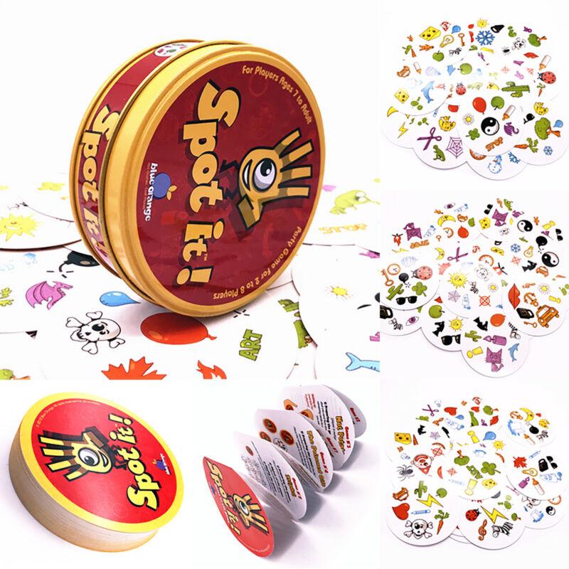 Für Spot it Dobble Finden Sie es Brett Lustige Kartenspiel für Kinder Familie