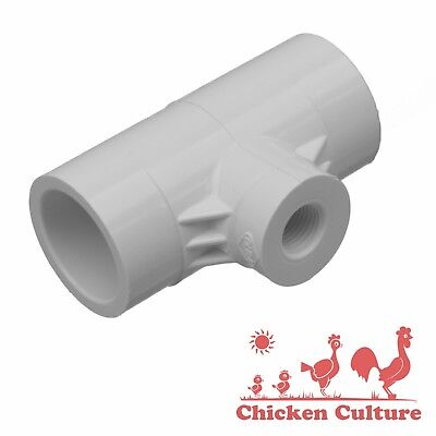 10 Pvc 12 Tee Fittings For Chicken Hen Poultry Drinker Waterer Cups Nipples