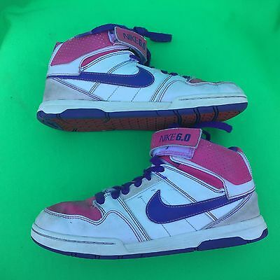 superior quality 528f0 3534f NIKE 6.0 junior s fashion white basketball shoes size--5Y
