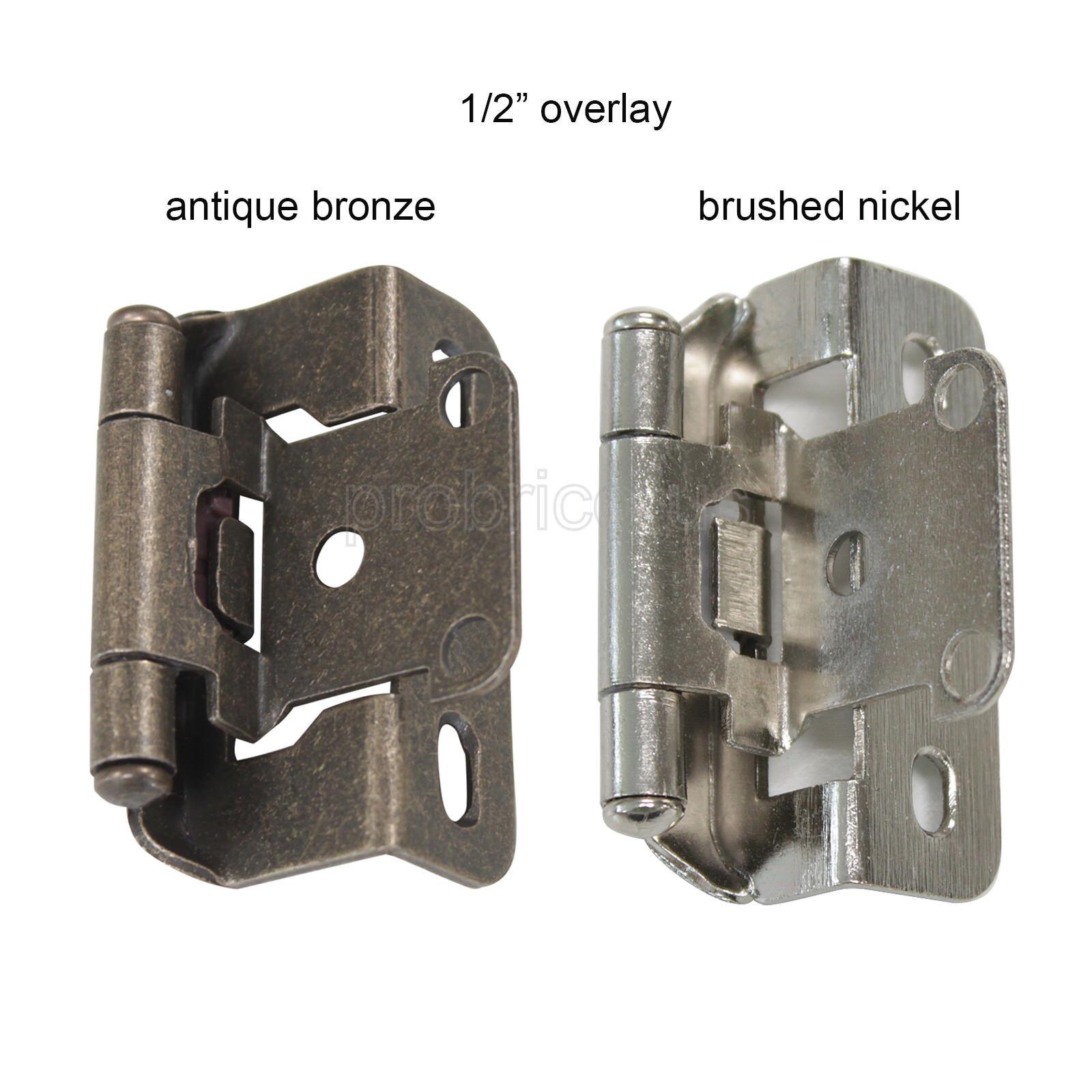 4 pc//2 Pair Pivot Hinge Antique Bronze 270 Degree Top//Bottom Cabinet//Door//DIY