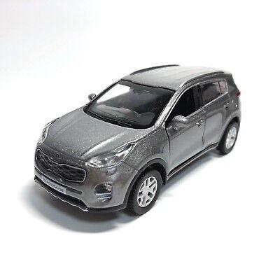 KIA Sportage Die-casting Mini car (Mineral Silver) / 1 : 38 Scale Pull Back