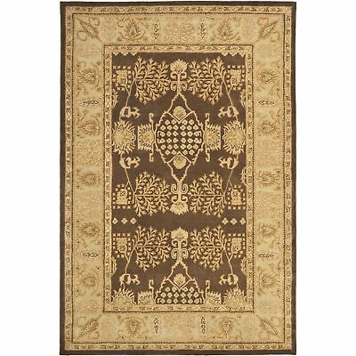 Safavieh Bergama Brown / Green Wool Area Rug 5' x 8' 5 Bergama Rectangle Rug