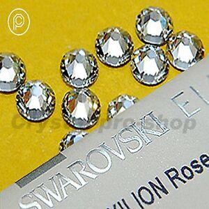 GENUINE-Swarovski-NON-hotfix-rhinestone-Gems-Nail-Art-Crystal-Clear-FLATBACK