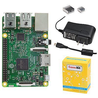 Brand Canakit Raspberry Pi 3 With 2.5a Micro Usb Power Su...
