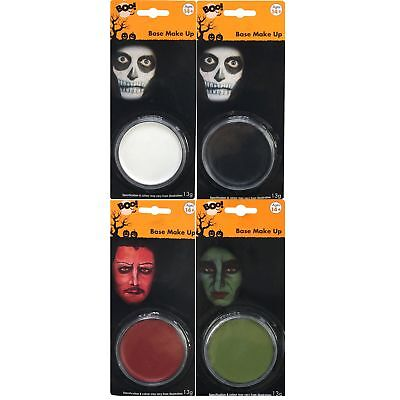 Black White Green Red Halloween Makeup Face Paint Party Witch Skeleton Vampire](Black And White Face Halloween Makeup)