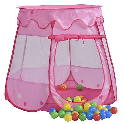 Spielzelt Pop Up Bällebad Spielhaus Zelt Prinzessin Pink Rosa 100 Bälle + Tasche