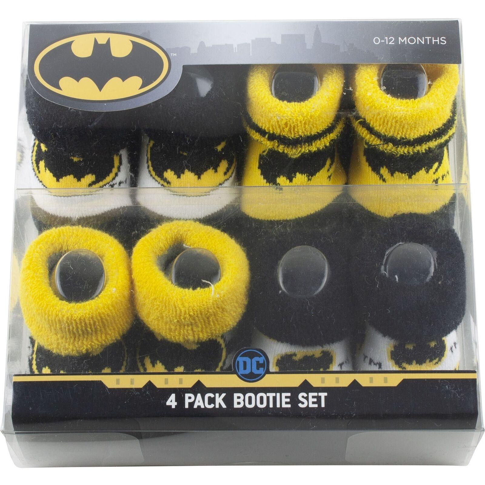 Batman Infant Baby Booties Set Shoes Socks Crib Newborn 4 Pa