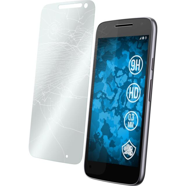 2 x Motorola Moto G4 Play Protection Film Tempered Glass clear