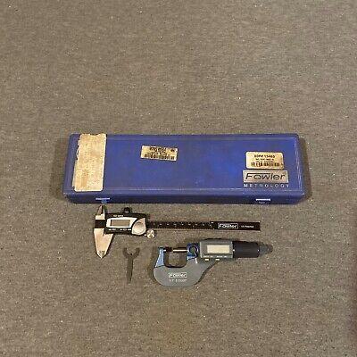 Fowler 2 Piece Electronic Caliper Micrometer Set 54-004-850-0