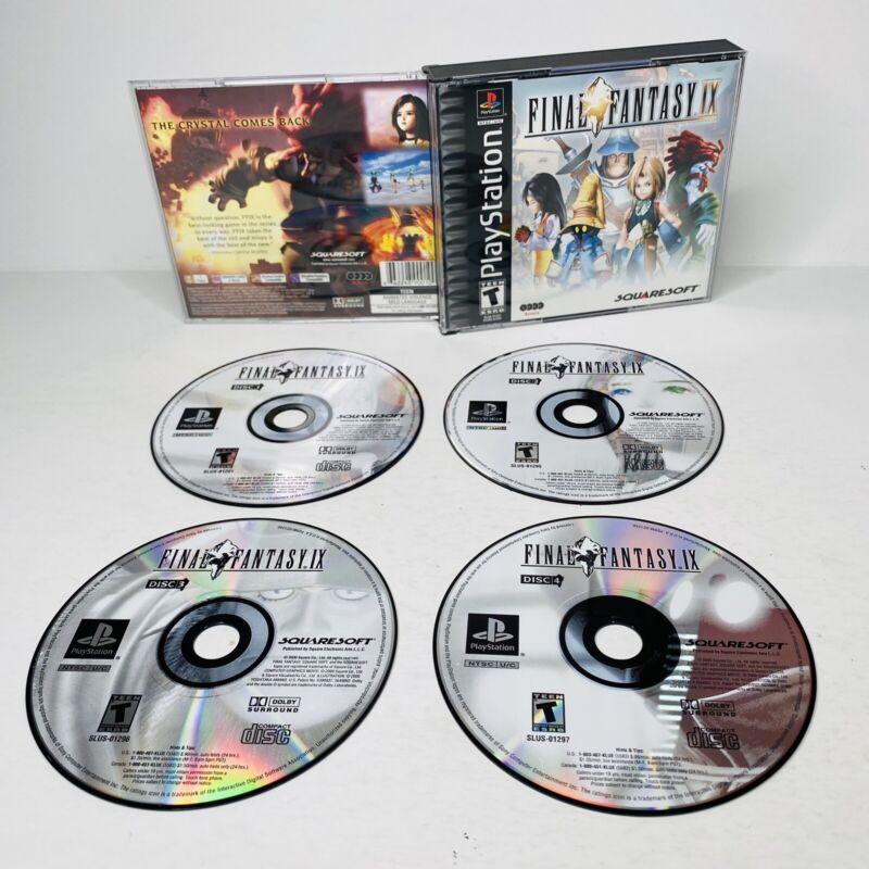 Final Fantasy IX 9 Sony PlayStation 1 PS1 Black Label No Manual TESTED WORKS