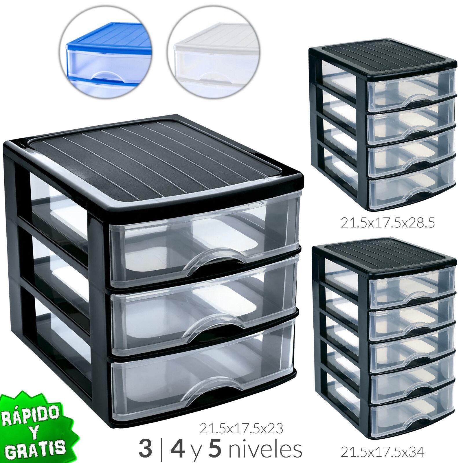 Drawer 3 4 5 Plastic Organiser Storage Cabinets Office Bedro