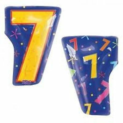 Number Shaped 7 Balloon 18 inch Foil Birthday 7th Seven Seventh Anniversary](Number Shaped Balloons)