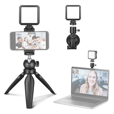 Neewer Video Conference Lighting Kit,Zoom Lighting for Computer with Suction Cup
