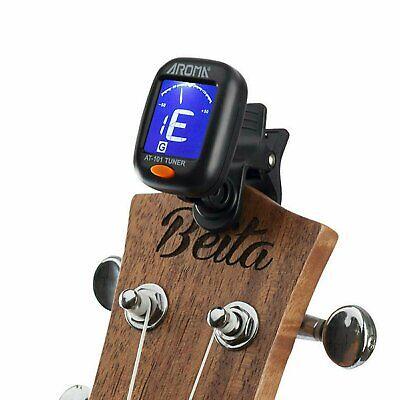 Digital Chromatic LCD Clip-On Electric Tuner for Bass, Guitar, Ukulele, Violin Guitars & Basses
