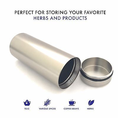 Stash Jar - Aluminum Herb  Jar  - Airtight Smell Proof Container - 1/2 oz herb