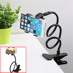 New Universal Flexible Long Arm Mobile Phone Desk Bed Table Stand Clip Holder UK