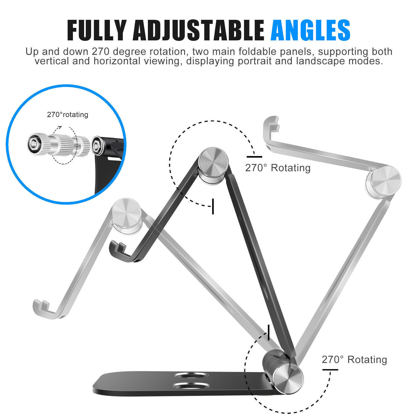 Strong-Willed Adjustable Universal Aluminum Alloy Metal Phone Holder Stand For Iphone X 8 7 6 Foldable Mobile Phone & Tablet Stand Desk Holder Cellphones & Telecommunications Mobile Phone Accessories