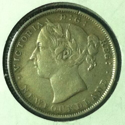 Canada  Newfoundland  20 Cents  KM 4  XF  1899 Large 99