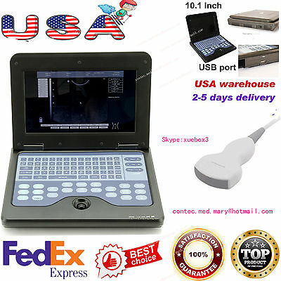 Fedex Usadigital Ultrasound Scanner Portable Laptop Machine 3.5 Convex Probe