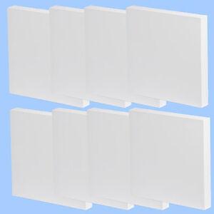 8x PLAIN +SMALL 7cm SQUARE CANVAS+ Mini Boards Art Acrylic/Oil Paint Blank/White