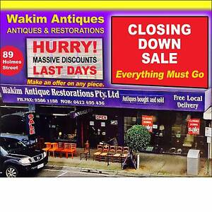 WAKIM ANTIQUES CLOSING DOWN SALE!!! Brunswick East Moreland Area Preview