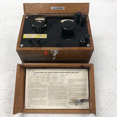 Antique Leeds Northrup Multiple Range Potentiometer Indicator In Case