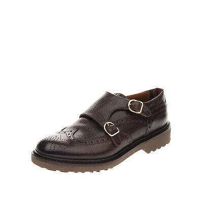 RRP €385 DOUCAL'S Leather Brogue Shoes EU 40.5 UK 6.5 US 7.5 HANDMADE in Italy