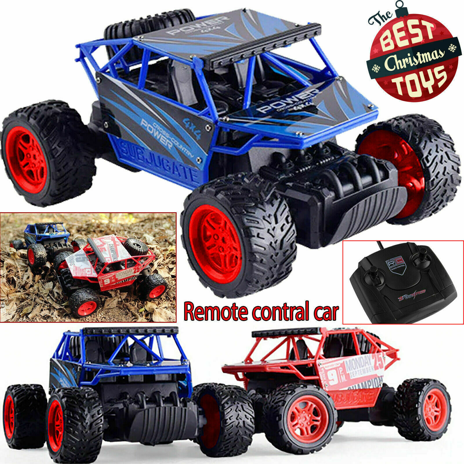 2.4G OFF ROAD REMOTE CONTROL RADIO RC CAR TOYS GIFTS 1//18 4WD ROCK CRAWLER TRUCK