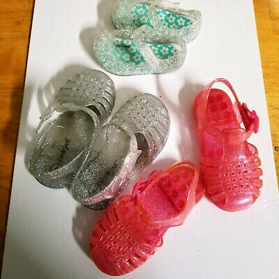 Baby Girl Shoes 3 Pairs Casual Toddler Fashion Bundle Set Toddler Jellie Sandals