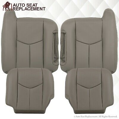 2007 Chevy Suburban Seat Covers - 2003 To 2007 Chevy Tahoe Suburban Silverado & Sierra Leather Seat Covers Gray