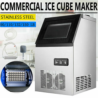 110v Built-in Ice Maker Bar Restaurant Undercounter Freestand Ice Cube Machine