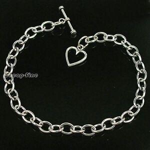 lots-10pcs-chain-HEART-bracelet-for-charms-dangles