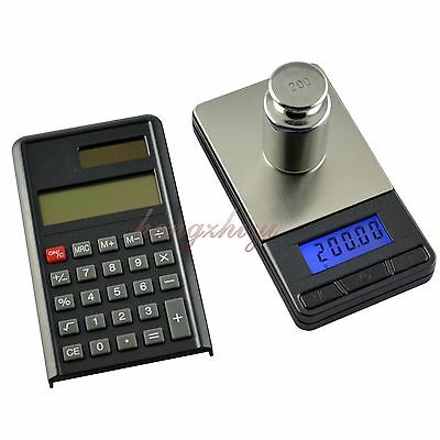 Wholesale 10pcs/lot 200g x 0.01g Digital Pocket Scale Balance with Calculator