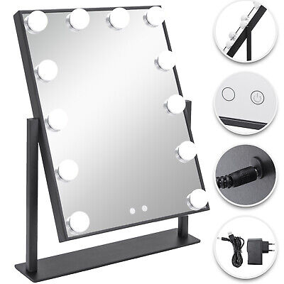 Hollywood Table Top Makeup Mirror Vanity Mirror with 14 LED Dimmable Bulb](Mirror Table)